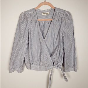 Madewell Faux Wrap Blouse